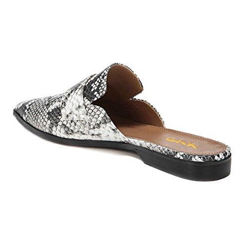 Xyd Des Femmes De Glissement Rétro Sur Mocassins Dos Nu Bout Pointu Chaussures Plates Pantoufle Mule Snakeskin