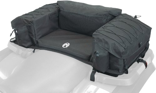 Atv Rear Cargo Bag - Coleman ATV Rear Padded-Bottom Bag (Black)