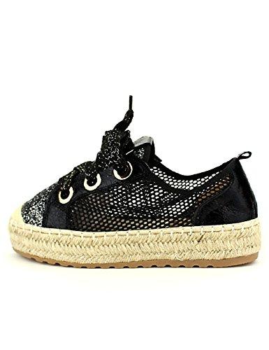 Chaussures Color Noir Femme Cendriyon Paillettes Espadrille Season q48a8wXx
