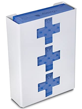 """TrippNT 51049 Priced Right Triple Glove Box Holder with Medical Cross, 11"""" Width x 15"""" Height x 4"""" Depth"""