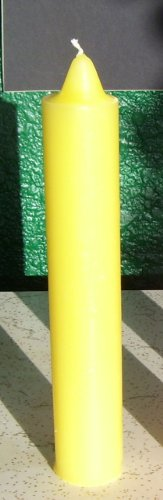 Yellow Pillar Spell Candle, 9 Inches