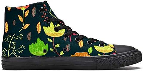 TIZORAX Lotus Leaf High Top Sneakers per le donne adolescenti Gilrs moda pizzo scarpe di tela casual scuola camminare scarpe
