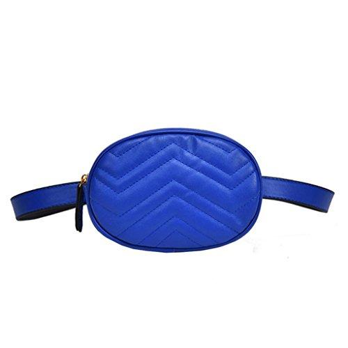 de Diagonale Femme de Sac en de Poitrine Bovake Sac Main à Unie Mode Cuir Couleur Bleu xw4d0wFXq