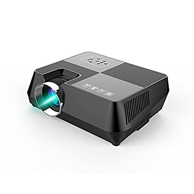 Everyone Gain S8 - 1600 Lumens LCD Mini Projector, Multimedia Home Theater Video Projection Support 1080P HDMI USB SD Card VGA AV for Family Cinema TV Laptop Game