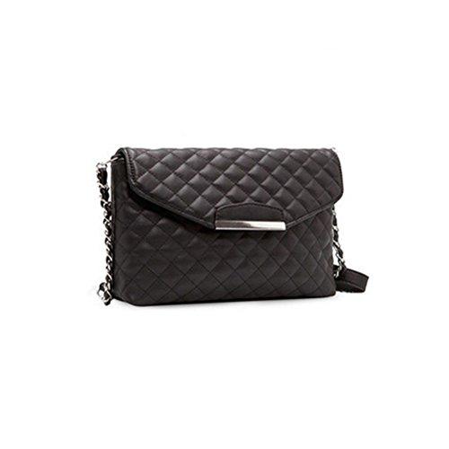Luoem Ladies Crossbody Bag Borsa A Tracolla Borsa In Pelle Pu Con Catene (nero)