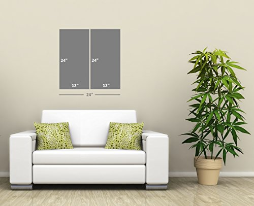 Canvas Wall Art Decor Total 24x24 inch 12x24 2 Piece Set Forest Tree