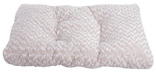 Merax Deluxe Pet Bed Pet Cushion with Sponge Swirl Fur Pet Bed (Beige)