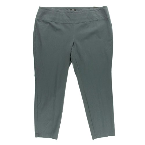 Alfani Womens Plus Twill Skinny Dress Pants Gray 20W