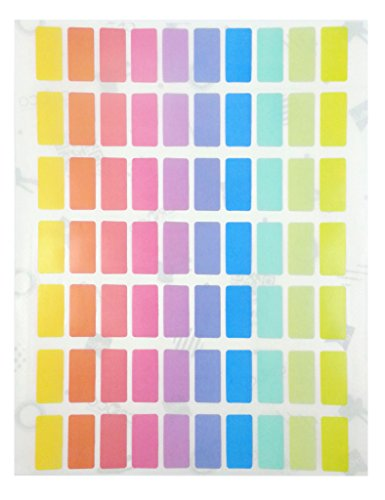 Pastel Soft Color Labels - Rectangular Permanent Self Adhesive Labels 10 Assorted Pastel Colors (10x20 (Pastel Checker)