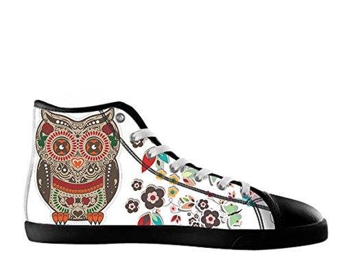 Kvinnor Canvas Kängor Dag Av Den Döda Designen Sockerskalle Shoes11