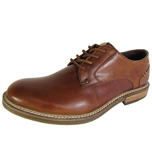 Steve Madden Mens Barton 2 Stringate Oxford In Pelle Marrone Chiaro
