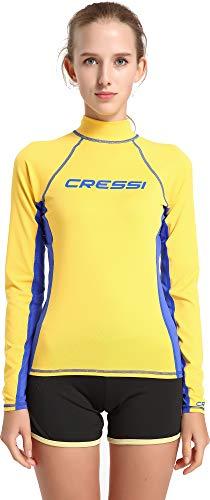 Cressi Damen Rash Guard Lange Ärmel aus elastischem Stoff für Erwachsener UV-Schutz (UPF) 50+