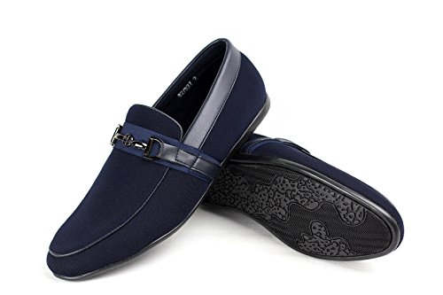 Inteligente Mocasín Conducción CABALLEROS SIN Zapatos Azul CIERRES qfwFt1B