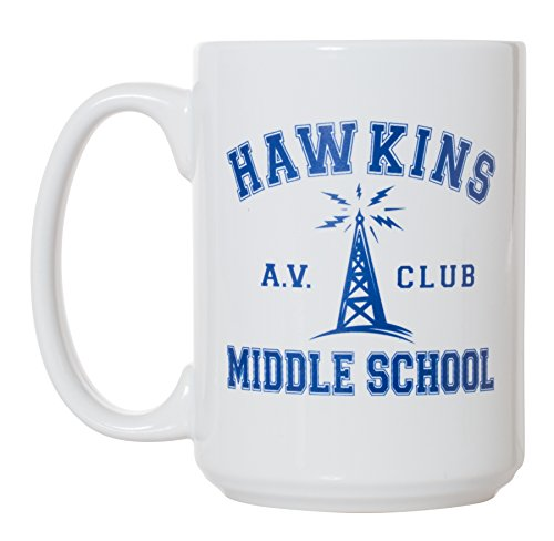 Hawkins Middle School AV Club Mug - 15oz Deluxe Double-Sided Coffee Tea Mug