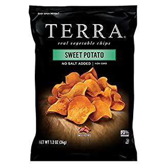 TERRA Sweet Potato Chips, No Salt Added, 1.2 oz. (Pack of 24)