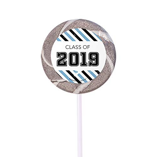Light Blue Graduation Candy Buffet Class of 2019 (Approx 14lbs) - Includes Hershey's Kisses, Dum Dums Lollipops, Gumballs and More by WH Candy (Image #3)
