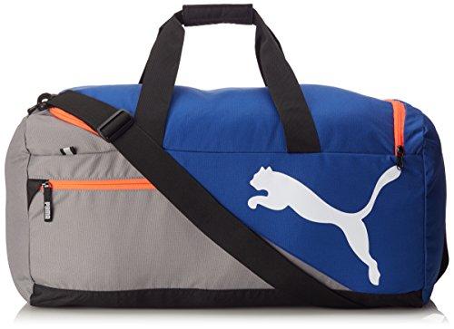 PUMA Sporttasche Fundamentals Sports Bag M, Mazarine Blue/Red Blast, 22.3 x 12.4 x 31 cm, 54 liter, 073395 08