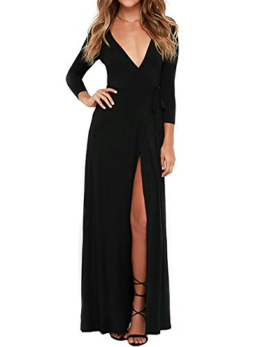 ladies 3/4 sleeve evening dresses - 7