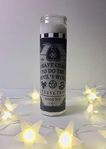 *USA SHOP* Ouija Board Prayer Candle, Ouija Candle, Esoteric Candle, Occult Candle, Halloween Candle, Occult Gift, Spirit Board, Medieval, Metaphysical, Witch, Witchcraft, Pagan, Paganism