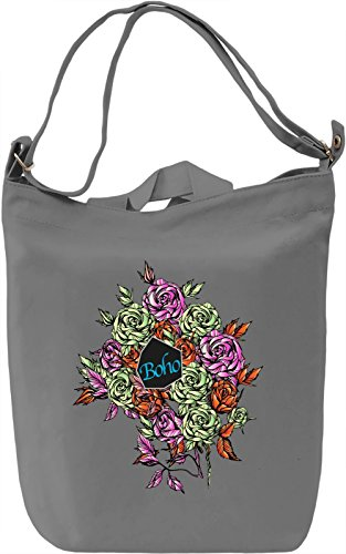 Floral Borsa Giornaliera Canvas Canvas Day Bag| 100% Premium Cotton Canvas| DTG Printing|