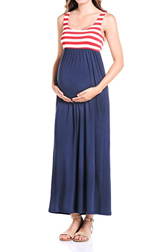 Beachcoco Women's Maternity Maxi Tank Dress (S, ()
