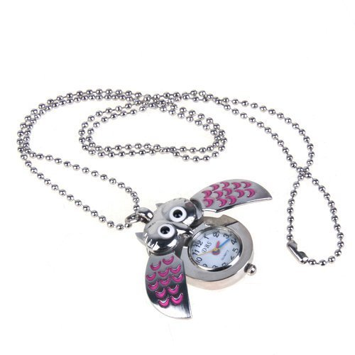 buyeonline-cute-mini-owl-pocket-watch-necklace-silver-and-pink