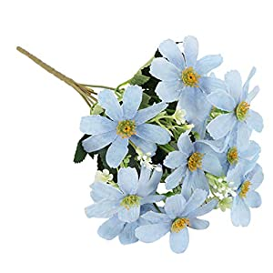 Fenteer Artificial Flowers, Fake Flowers Silk 10 Heads Cosmos Flowers Bouquets Wedding Party Kitchen Home Decor, 4 Colors 9
