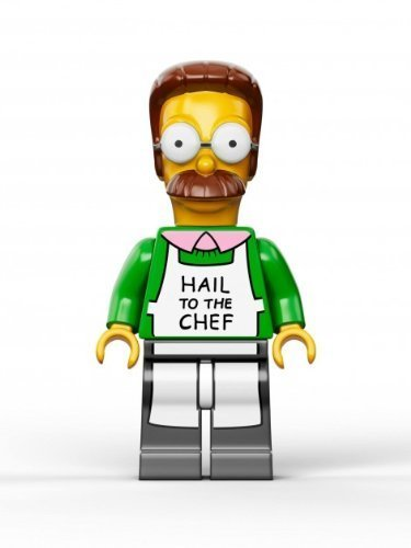 with LEGO Simpsons design