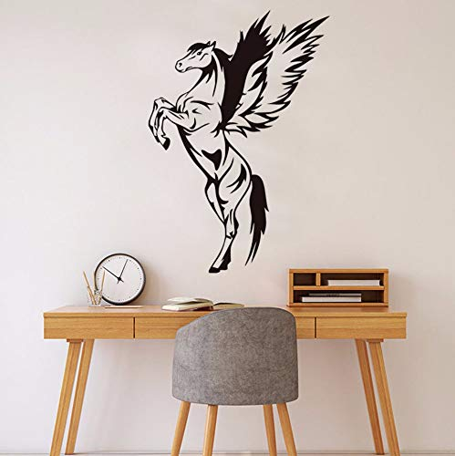 XINXINXZ Animal Jumping Pegasus Wall Stickers for Kids Rooms Hollow Out Vinyl Removable Wall Art Decals Home Decoration Accessories84X58CM