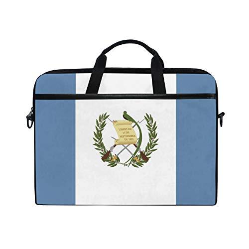 (Ainans Guatemala Flag 15 inch Laptop Case Shoulder Bag Crossbody Briefcase Messenger Sleeve for Women Men Girls Boys)