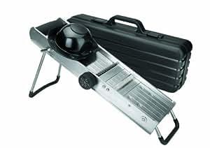 Lacor 60357 - Mandolina Inox con protector con cuchillas giratorias