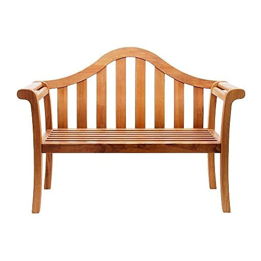 Miraculous Achla Designs Camelback Wood Garden Bench Natural Ibusinesslaw Wood Chair Design Ideas Ibusinesslaworg