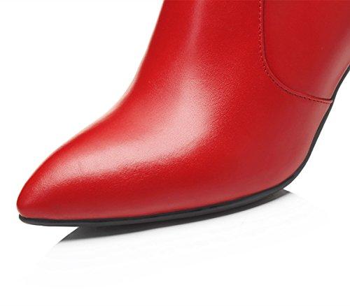 Stiefeletten Boots Frauen mit Damen High Ankle Herbst ANNIESHOE Leder Heels Absatz Bq5w4Cn