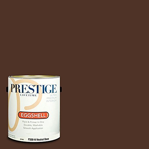 (Prestige Paints P300-N-SW6069 Interior Paint and Primer in One, 1-Gallon, Eggshell, Comparable Match of Sherwin Williams French Roast, 1 gallon SW69-French)
