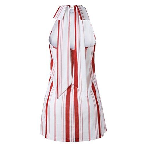 a Abito vintage Ilangareee scoperte spalle spalla con stile Red estivo donna 4Hdtq