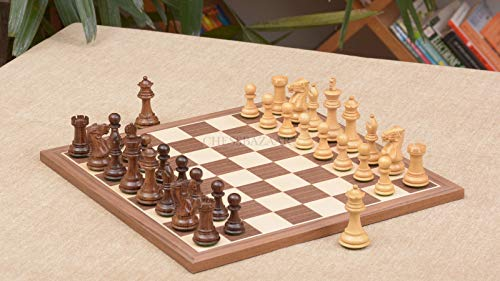 Combo of Collector Series Chess Pieces & Walnut Maple Chessboard - 2.6