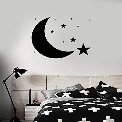Zykang Dormitorio Luna Estrella Cielo Tatuajes de pared Diseño ...