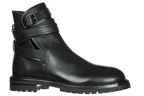 Schwarz Leder Herren Stiefeletten Valentino Schnürboots Boots 08XfTw