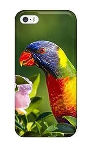 tiffany moreno's Shop New Style High Quality TashaEliseSawyer Rainbow Lorikeet Skin Case Cover Specially Designed For Iphone - 5/5s 9195107K78776362