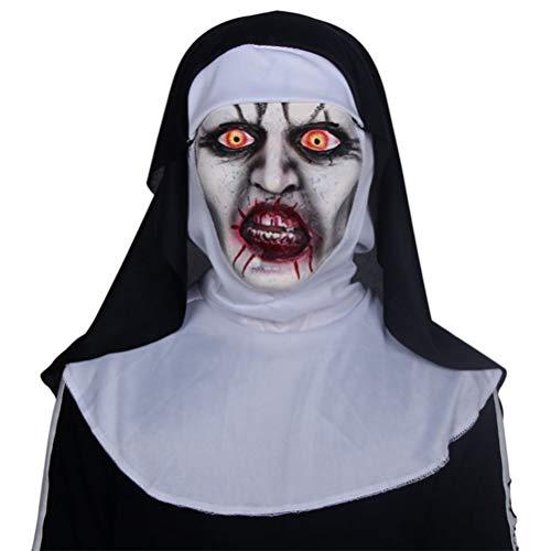 Scary Nun Halloween Mask Creepy Haunted House