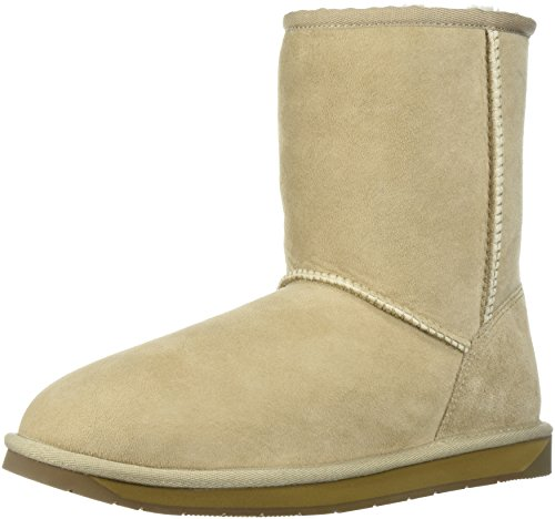 206 Collective Women's Balcom Short Back-Zip Shearling Ankle Boot Sand Suede
