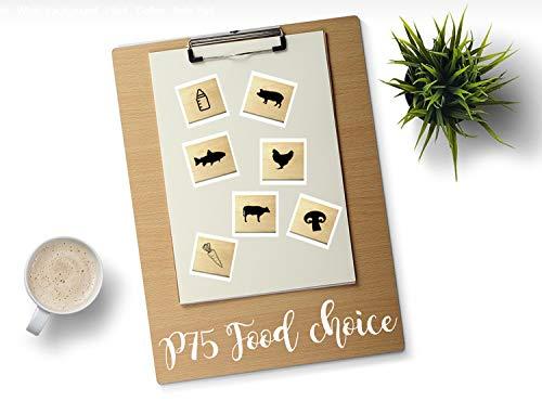 P75 Food choice, Menu, Meal choice rubber stamp set