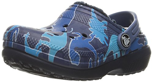crocs Classic Lined Graphic Clog (Toddler/Little Kid), Blue Camo, 2 M US Little Kid by Crocs