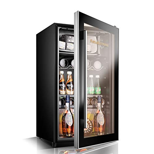 Thermostat Ice Bar Refrigerator Wine Cooler Wine Cabinet Home Display Refrigerated Small Freezer (Color : Black, Size : 834546cm)