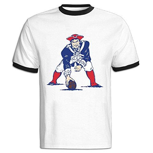 [NINJOE Men's Cotton New England Baseball Running T-Shirt Black L] (K-9 Doctor Who Dog Costume)