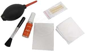 Cablematic - Kit de limpieza fotográfico 6 en 1 con soplador