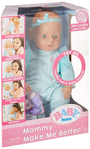 Baby Born Interactive Doll Mommy Make Me Better- Green Eyes -