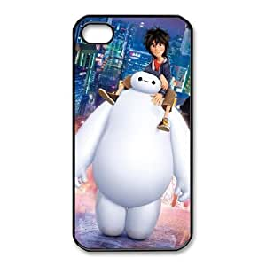 Fashion image DIY for iPhone 4 4s Cell Phone Case Black Baymax Big Hero 6 BAM2937029