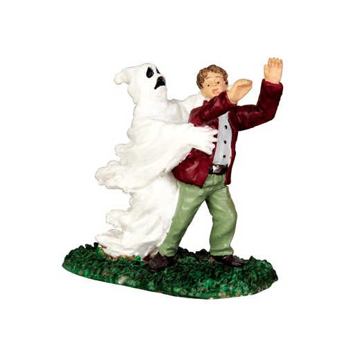 Lemax Spooky Town Ghost Grasps Victim # 42206