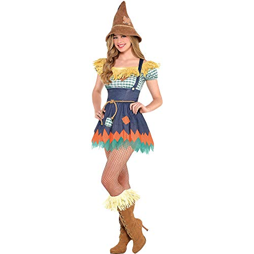 Suit Yourself Scarecrow Halloween Costume for Women, Wizard of Oz, Medium, Includes Accessories]()